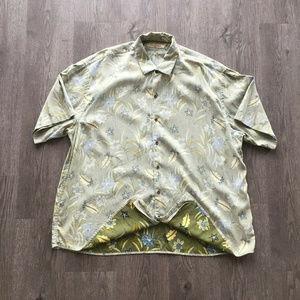 Tommy Bahama Reverse Hawaiian Silk Aloha Shirt 2XL